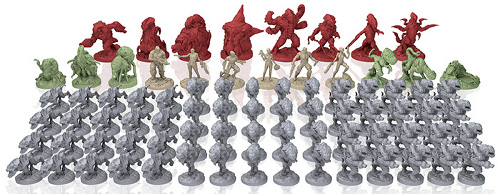 The miniatures in the Project: ELITE Boardgame