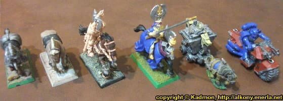 Cavalry bases for miniatures